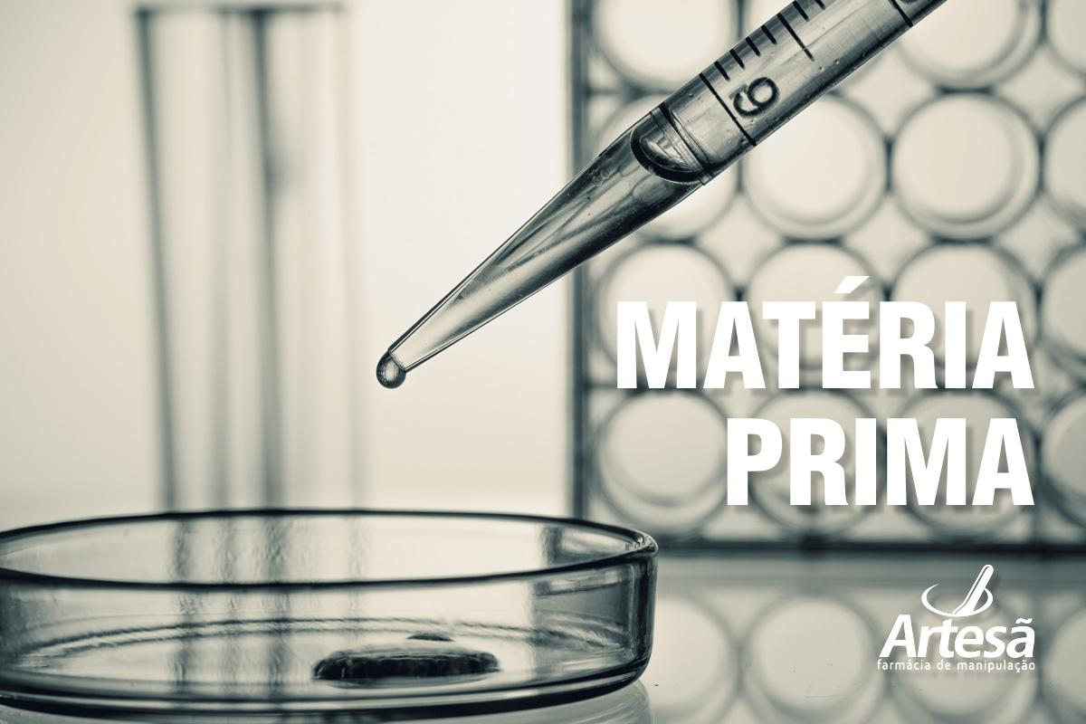 Quais são as matérias primas utilizadas para fazer o remédio manipulado?